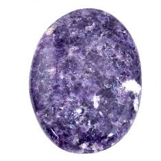 Natural 13.25cts lepidolite purple cabochon 25x17 mm oval loose gemstone s22690