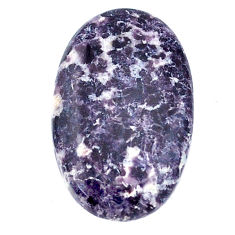Natural 16.30cts lepidolite purple cabochon 26x16 mm oval loose gemstone s22691