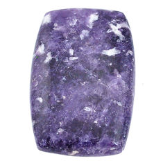 Natural 23.15cts lepidolite purple cabochon 29x18 mm loose gemstone s22700