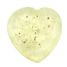 esert glass (gold tektite) 17x16.5mm heart loose gemstone s16542