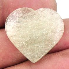Natural 16.30cts libyan desert glass 25x23.5 mm heart loose gemstone s19222