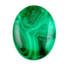 Natural 38.15cts malachite (pilot's stone) 30x22.5 mm oval loose gemstone s19353