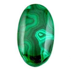 Natural 41.30cts malachite (pilot's stone) 33.5x19 mm oval loose gemstone s19350