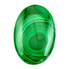 Natural 43.45cts malachite (pilot's stone) 35x22.5mm oval loose gemstone s18442