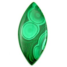 Natural 37.40cts malachite (pilot's stone) 43.5x18.5 mm loose gemstone s18458