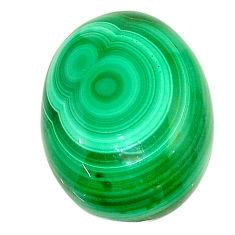 Natural 24.15cts malachite (pilot's stone) green 21x16 mm loose gemstone s22990