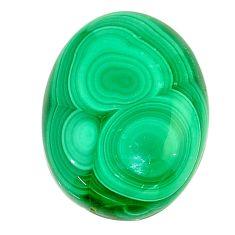 Natural 24.05cts malachite (pilot's stone) green 23x17 mm loose gemstone s22991