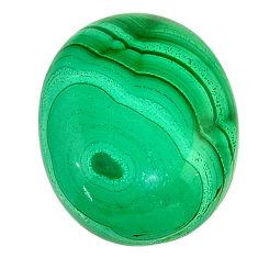 Natural 28.10cts malachite (pilot's stone) green 23x18 mm loose gemstone s22992