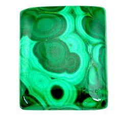 Natural 37.35cts malachite (pilot's stone) green 24x20 mm loose gemstone s21540