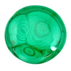 Natural 42.40cts malachite (pilot's stone) green 25x25 mm loose gemstone s21535
