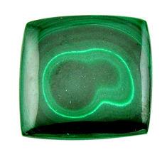 Natural 36.25cts malachite (pilot's stone) green 26.5x26mm loose gemstone s19360