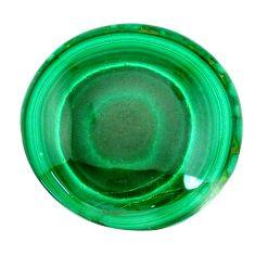 Natural 46.30cts malachite (pilot's stone) green 26x26 mm loose gemstone s21533