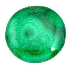 Natural 40.35cts malachite (pilot's stone) green 26x26 mm loose gemstone s21534