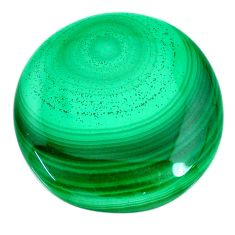 Natural 41.30cts malachite (pilot's stone) green 28x28 mm loose gemstone s21529