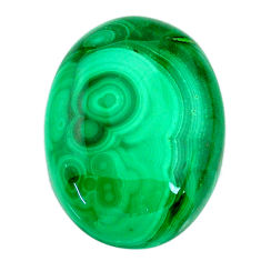 Natural 58.25cts malachite (pilot's stone) green 30x22 mm loose gemstone s21523