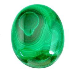 Natural 59.20cts malachite (pilot's stone) green 30x23.5mm loose gemstone s21524