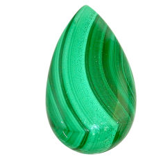 Natural 34.05cts malachite (pilot's stone) green 32x17.5mm loose gemstone s22998