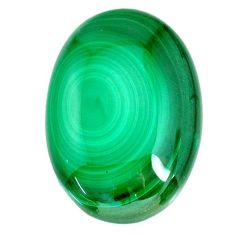 Natural 56.35cts malachite (pilot's stone) green 32x22 mm loose gemstone s21525