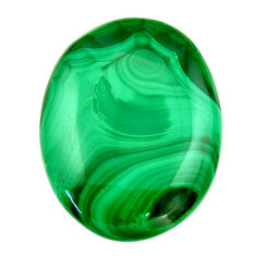 Natural 49.45cts malachite (pilot's stone) green 32x24 mm loose gemstone s18452