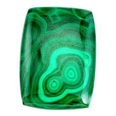 Natural 53.45cts malachite (pilot's stone) green 33x23 mm loose gemstone s21516