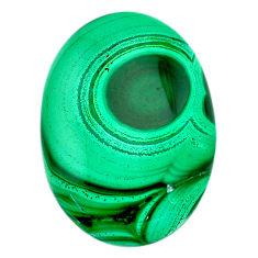 Natural 66.30cts malachite (pilot's stone) green 35x25 mm loose gemstone s21528