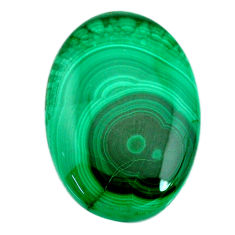 Natural 59.45cts malachite (pilot's stone) green 36x25 mm loose gemstone s21501