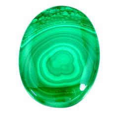 Natural 66.30cts malachite (pilot's stone) green 36x26.5mm loose gemstone s21509
