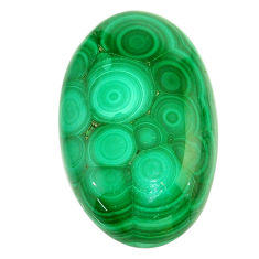 Natural 64.35cts malachite (pilot's stone) green 37x22.5mm loose gemstone s22996
