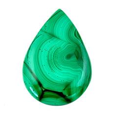 Natural 46.30cts malachite (pilot's stone) green 37x25 mm loose gemstone s19343