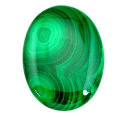 Natural 60.15cts malachite (pilot's stone) green 37x27 mm loose gemstone s21506