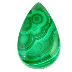 Natural 56.30cts malachite (pilot's stone) green 38x22.5mm loose gemstone s22984