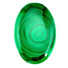 Natural 60.10cts malachite (pilot's stone) green 38x25 mm loose gemstone s21503