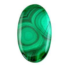 Natural 42.35cts malachite (pilot's stone) green 39x22 mm loose gemstone s19354