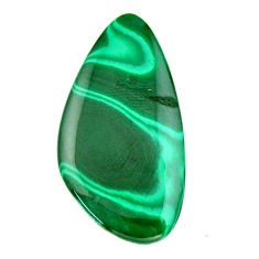 Natural 37.40cts malachite (pilot's stone) green 42x22 mm loose gemstone s19381