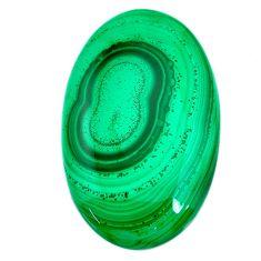 Natural 104.45cts malachite (pilot's stone) green 48x30 mm loose gemstone s21511