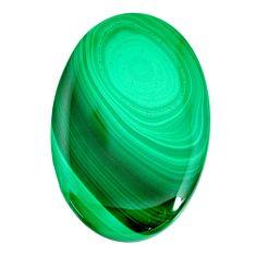 Natural 90.15cts malachite (pilot's stone) green 49x32 mm loose gemstone s21512