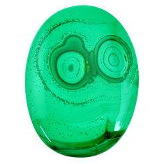 Natural 176.30cts malachite (pilot's stone) green 58x41 mm loose gemstone s21519