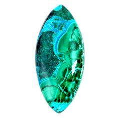 Natural 26.20cts malachite in chrysocolla green 33.5x15 mm loose gemstone s19468