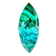 Natural 18.10cts malachite in chrysocolla green 36x15 mm loose gemstone s19476