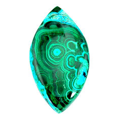 Natural 52.45cts malachite in chrysocolla green 46x24 mm loose gemstone s22555