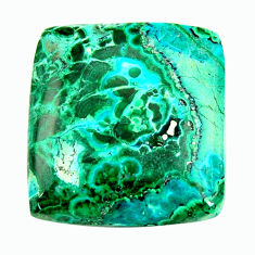 malachite in turquoise green 20x19 mm loose gemstone s17245