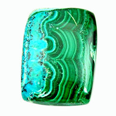 Natural 21.25cts malachite in turquoise green 22.5x16.5 mm loose gemstone s17240