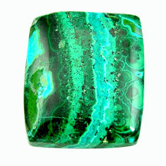Natural 34.45cts malachite in turquoise green 24x21 mm loose gemstone s17235