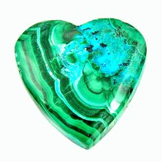 malachite in turquoise green 24x24 mm loose gemstone s17223