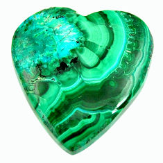 Natural 31.30cts malachite in turquoise green 26x25 mm loose gemstone s17268