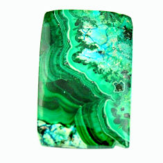 Natural 23.45cts malachite in turquoise green 27.5x18 mm loose gemstone s17259