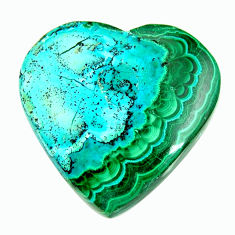 Natural 36.30cts malachite in turquoise green 28x28 mm loose gemstone s17203