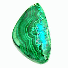 Natural 21.30cts malachite in turquoise green 29x17 mm loose gemstone s17256