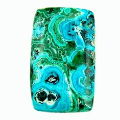 Natural 18.10cts malachite in turquoise green 29x17 mm loose gemstone s17277