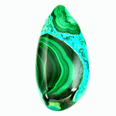 malachite in turquoise green 30x14 mm loose gemstone s17253